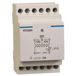 Transformateur rail DIN 230V AC / 12-24V AC / 1,25A