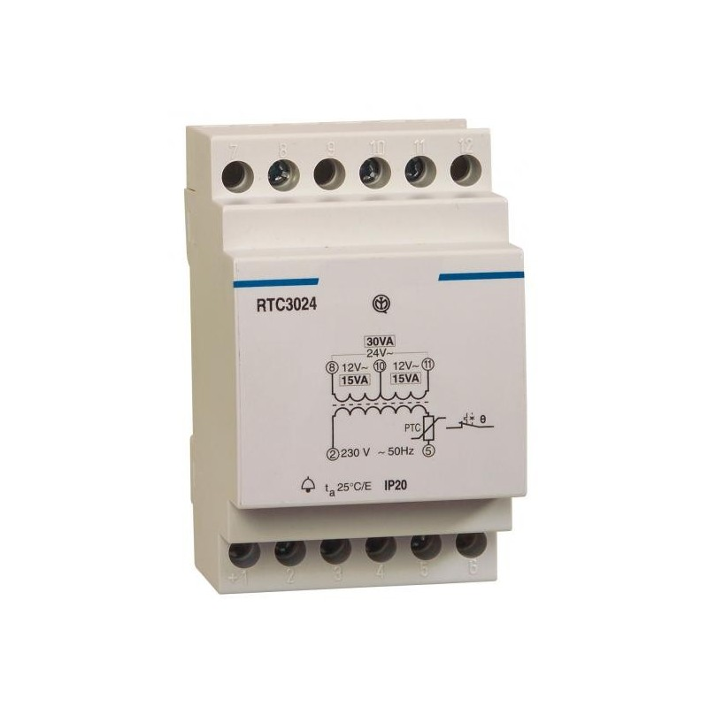Transformateur rail din 230v ac 12 24v ac 1 25a aslr for Transformateur 12v exterieur