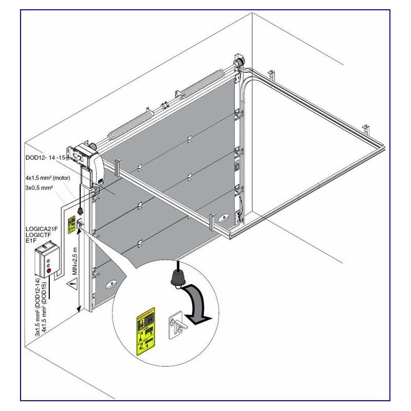 Automatisme porte sectionnelle industrielle aslr Automatisme porte de garage