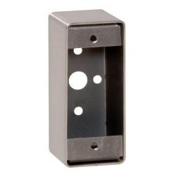 Boîtier applique pour gamme bouton poussoir INOX sur plaque étroite